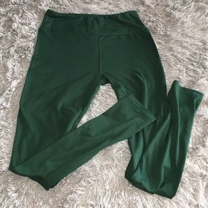Lularoe solid green leggings one size hunter dark